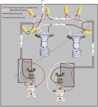 Power from multiple lights between 3 way switches