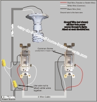 Power to 3 way switch then to light and 3 way switch