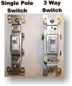 3 way switch and single pole switch