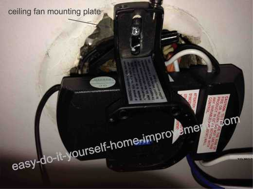 ceiling fan mounting plate
