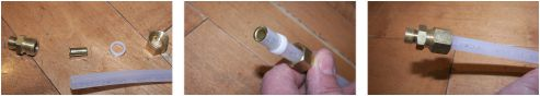 compression fitting assembly - install ice maker