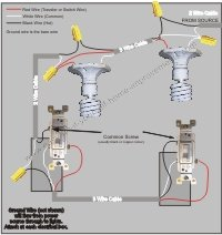 Wiring 3 way switch power to light diy wiring diagrams wiring a 3 way switch rh easy do it yourself home improvements com how to wire a 3 way switch with power and light in same box with a 3 way switch asfbconference2016 Images