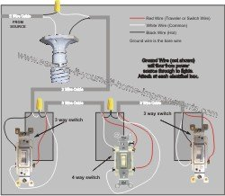 4 way switch wiring diagram