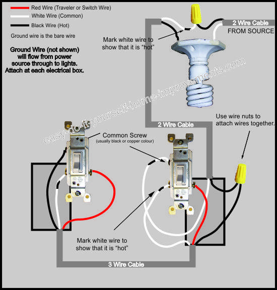 3 way switch wiring diagram wiring diagram for 3 way switch with 4 lights wiring diagram for 3 way switch with light #5