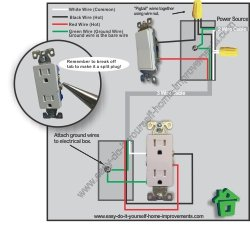 outlet switch wiring
