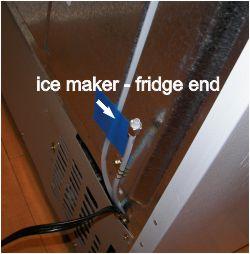 install ice maker - fridge end